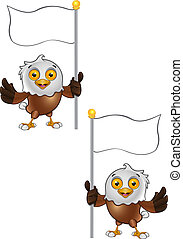 Bald Eagle Character - 7 - A vector illustration on a...