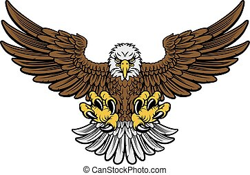 Bald Eagle Mascot - Cartoon bald American eagle mascot...