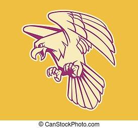 Bald Eagle Retro Color - Vector illustration of bald eagle ...