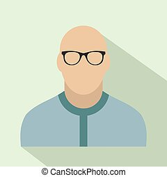 Bald man avatar icon for web and mobile devices