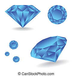 Balda_Temp - Shiny diamond with shadow - illustration