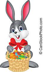 balde, ovos, bunny easter