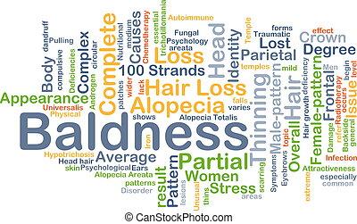 Baldness background concept - Background concept wordcloud ...