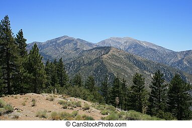 Panoramic view of the San Gabriel Mountains, California