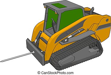 Bale transportation vehicle vector illustration on white background