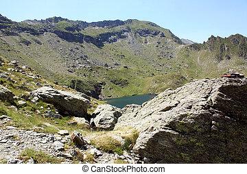 Balea, glacial lake in Fagaras