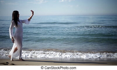balearic dancer shot with canon 5d mk2, at sunrise on a...