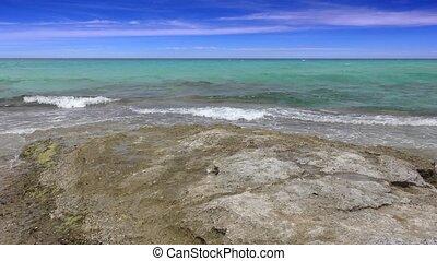Balearic Ibiza Formentera turquoise beach, 4 K video -...