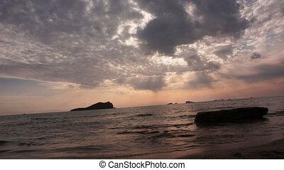balearic island sunrise at sea view sunset ibiza timelapse