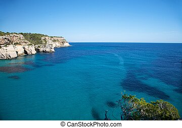 Macarella beach at Menorca island in Spain