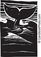 baleine, flet