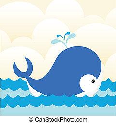 baleine, mer