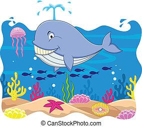 balena, cartone animato