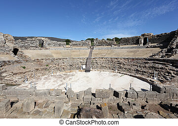 Baleo Claudia - roman ruins in Bolonia, Andalusia, southern Spain