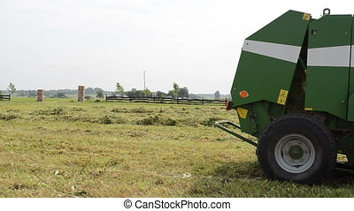 baler discharge hay bale - Special equipment eject discharge...