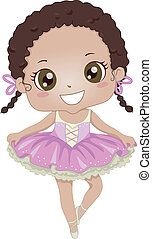 balerina, afrykańska-amerikanka