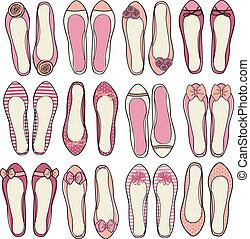 balerina, obuwie, zbiór