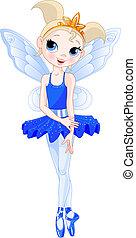 baleriny, indygo, (rainbow, balerina, series)., kolor
