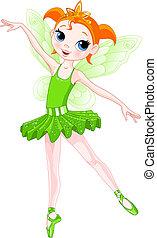 baleriny, (rainbow, balerina, series)., kolor, zielony