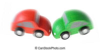baleset, autó lezuhan