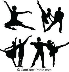 balet, wektor, -, zbiór
