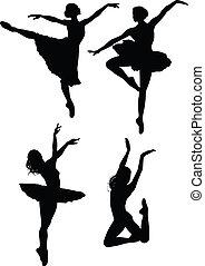 balett, silhouettes