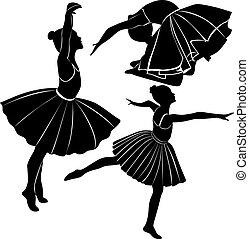 balett-táncos, leány