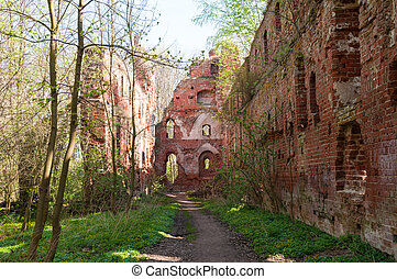 Balga - ruins of medieval castle of the Teutonic knights....