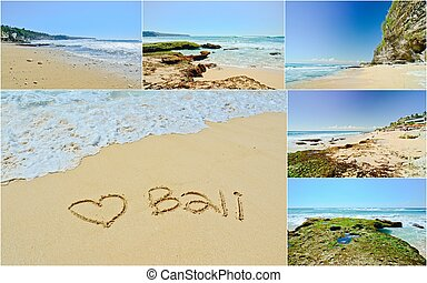 Bali beach, Indonesia - collection of Bali beach known as...