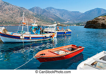 Bali harbour. Crete, Greece