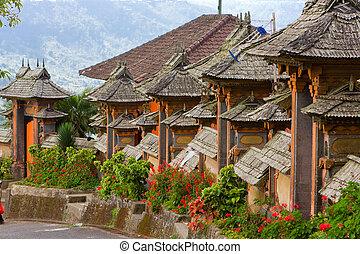 Bali, Indonesia. Settlement street