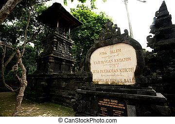 BALI - JANUARY 2: Pura Dalem temple on JANUARY 2, 2012,...