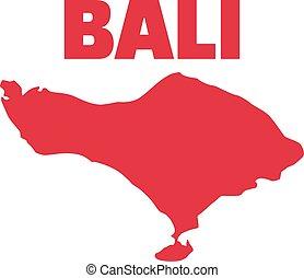 Bali map island