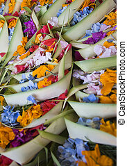 Bali offering - Canang, a Balinese offering to the Gods
