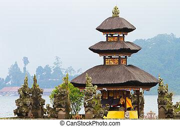 Bali Temple - Beautiful Bali water temple at Bratan lake