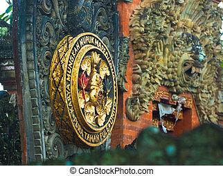 Bali temple medallion