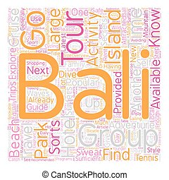 Bali What To Do And Where To Go text background wordcloud concept