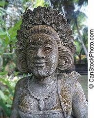 balinese , πέτρα , γυναίκα , άγαλμα