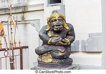 balinese, dio, statua, in, tempio, complesso, bali,...