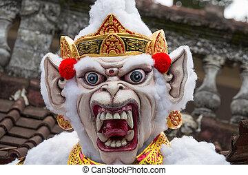 balinese, indonesia., mostro, ogoh-ogoh, anno, nuovo