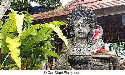 balinese, indonesia, statua, offerta, bali