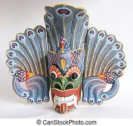 (balinese), indonesio, mask-souvenir, árbol, tradicional, ...