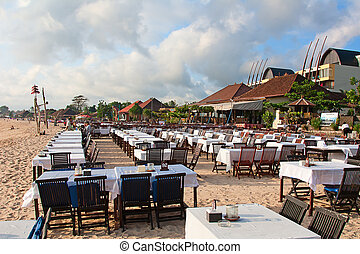 Balinese Jimbaran beach famous for it's perfect sea food...