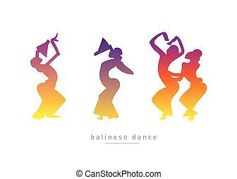 balinese, ragazze, ballo