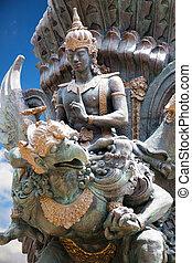 balinese, statua, indonesia