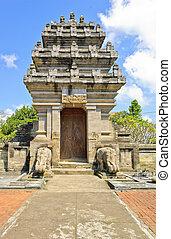 balinese, tempio, cancello