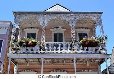 balkón, do, ta, french místa