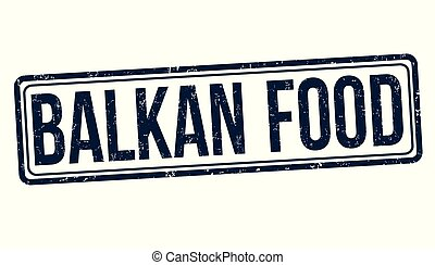 Balkan food grunge rubber stamp