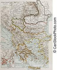 Balkan peninsula bis - Balcan peninsula political map with...