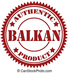 Balkan-stamp - Rubber stamp with text Balkan-Authentic...